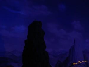 アメリカ型鉄道模型_mountain_night